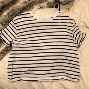 Black and white striped Aritzia tee